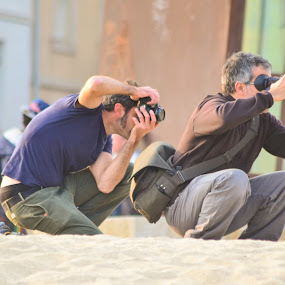 photographers by Alex Parlog - People Professional People ( photographers, camera, summer, sea, photo,  )