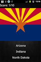 Screenshot of Quiz - U.S. States Capitals