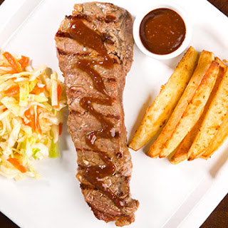Marinated Strip Steaks with D.I.Y. Steak Sauce.
