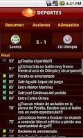 Screenshot of Televisa Deportes US