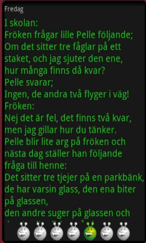 dagens fräckis på svenska