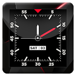 Blood Red HD Analog Clock LWP