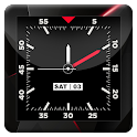 Blood Red HD Analog Clock LWP icon