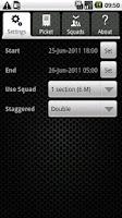 Screenshot of Picket List