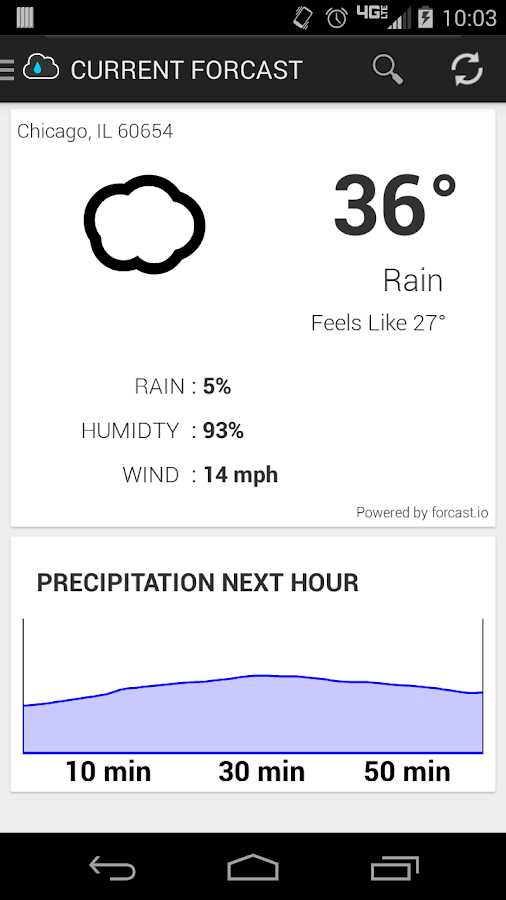 RainCheck- screenshot