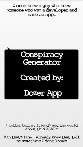 Conspiracy Theory Generator