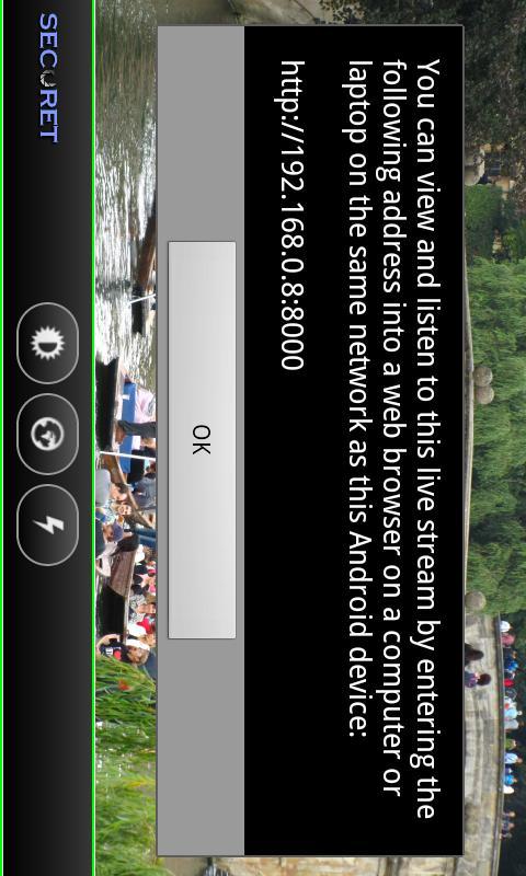 Camera WiFi LiveStream DEMO- screenshot