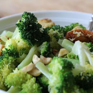 Simple Broccoli with Roasted Garlic, Toasted Hazelnuts, and Lemon