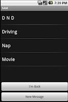 Screenshot of Text Away Message PRO - SAM
