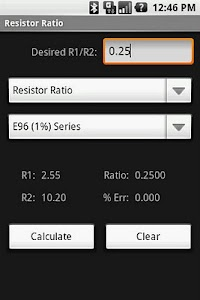 Resistor Ratio Calculator screenshot 0