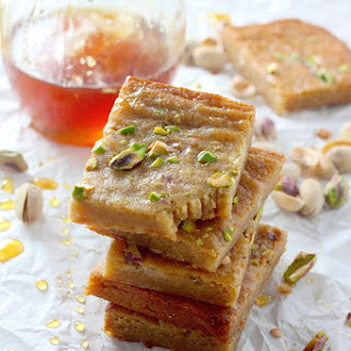 Brown Butter and Honey Pistachio Cookie Bars
