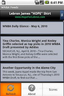WNBA Feeds - screenshot thumbnail