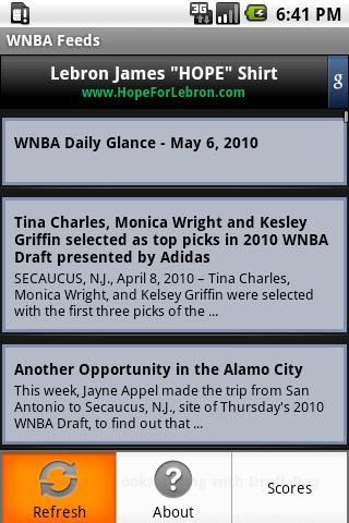 WNBA Feeds - screenshot