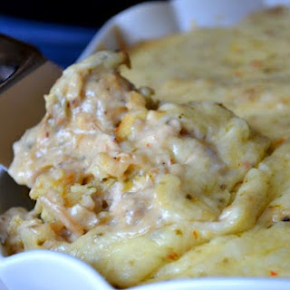 Comforting Chicken and Rice Casserole.