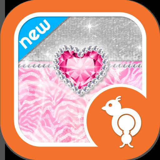 Bling  Pink Zebra Theme GO SMS LOGO-APP點子
