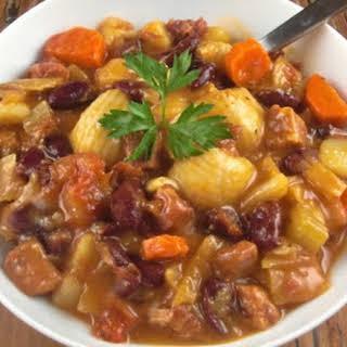 Portuguese Bean Soup for Souper (Soup, Salad & Sammie) Sundays.