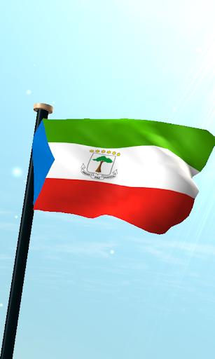 赤道幾內亞旗3D動態桌布
