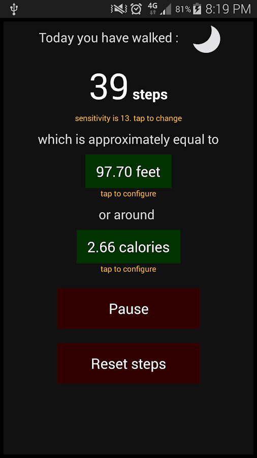 Hans's Pedometer- screenshot