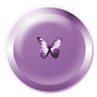 Soft Butterfly Clock Widget icon