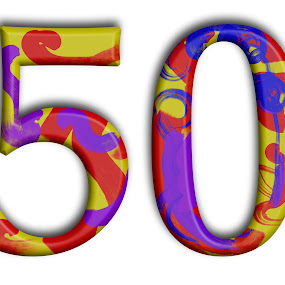 Just 50 by Axel K. Böttcher - Typography Single Letters