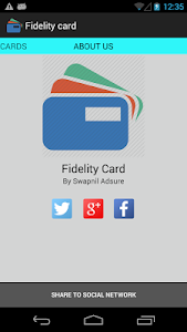 Fidelity Card screenshot 0