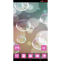 Pink Bubbles theme icon