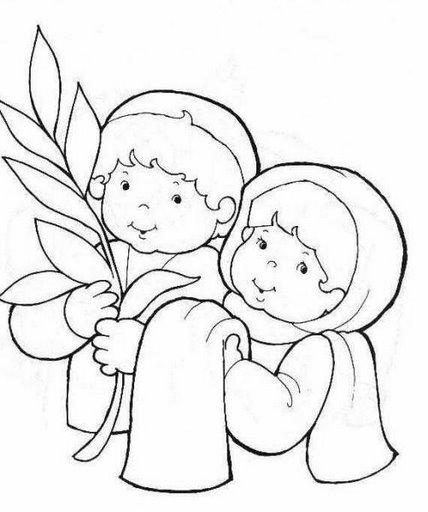 La Semana Santa En Fichas Para Pintar Los Niños