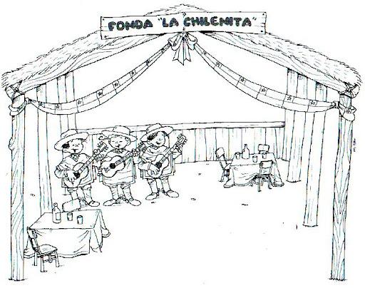 Dibujo De Chilena Para Colorear: CHILE MI PATRIA EN LAMINAS PARA PINTAR