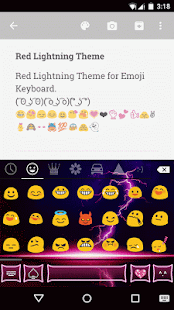 Red Lightning Emoji Keyboard Android Apps On Google Play