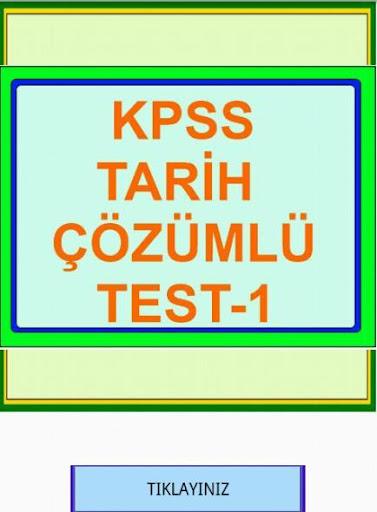 KPSS TARİH ÇÖZÜMLÜ TEST 1