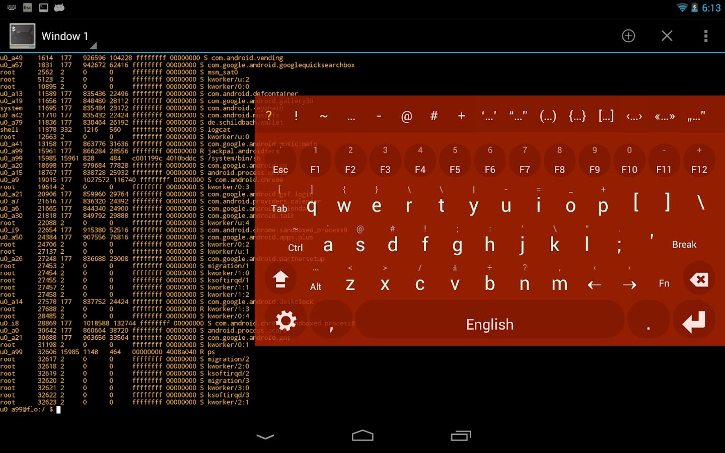 Multiling O Keyboard + emoji: captura de tela