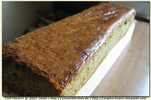 Japan Honey Cake Recipe: Matcha Kasutera Honey Sponge Cake