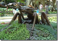 Five foot bug art in Las Vegas Bellagio's conservatory