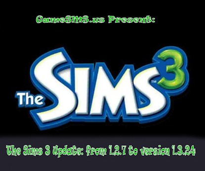 The Sims 3 Update: v1.3.24
