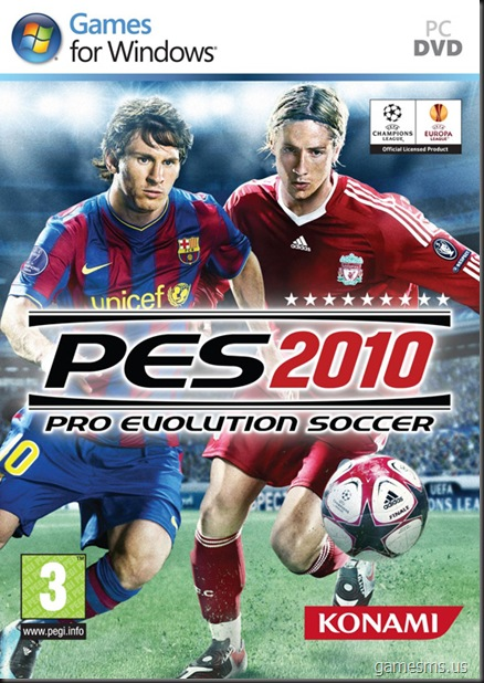 PES 2010 UK Box Cover