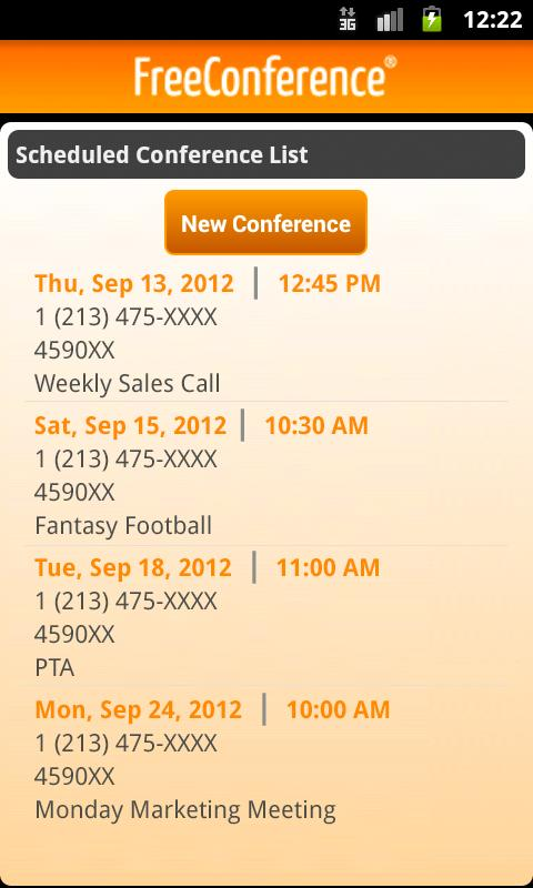FreeConference Mobile - screenshot