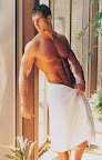 sexy muscle men in towel