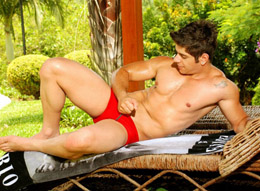 Camilo - Hot Muscle Guy in Red Underwear