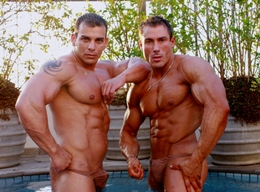 Two Muscle Hunks - Gilberto Nestore and Andy Travers