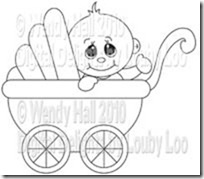 Little Dumpling in pram