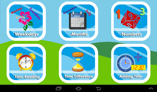 Learn Clock,Day & Month - Kids- screenshot thumbnail