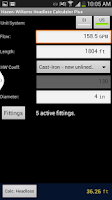 Screenshot of Pipe Headloss Calculator Plus