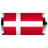 Denmark - Flag Battery Widget