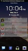 Screenshot of Lock Screen Notifications