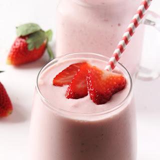 Strawberry Piña Colada Smoothie.