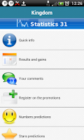 Screenshot of Predictions  Euromillions free