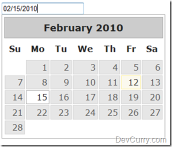 jQuery UI DatePicker Select Date