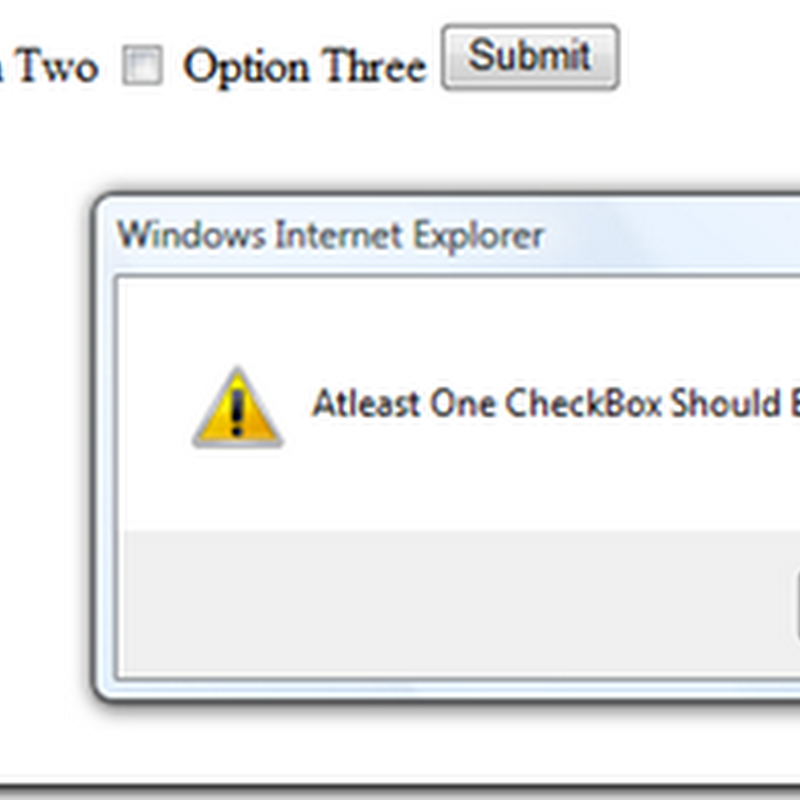 DevCurry: Make Sure atleast One CheckBox is checked before