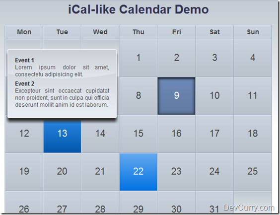 5 jQuery Calendar Plugins that can be used on Websites