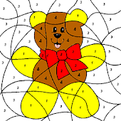 Cute Bear Coloring By numbers